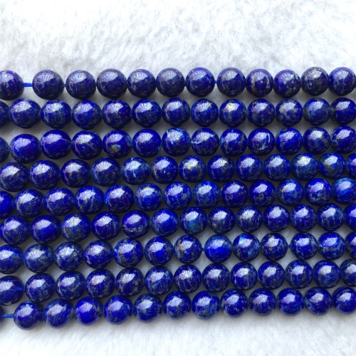 "High Quality Genuine Natural Dark Blue Lapis Lazuli Necklaces or Bracelets Round Loose Beads 4-12mm 15.5"" 06024"