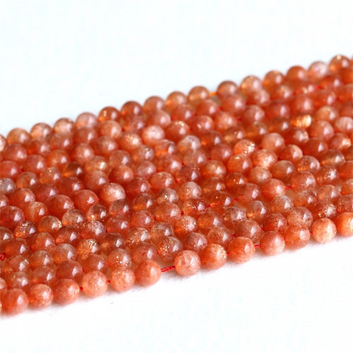 "AAA Quality Natural Genuine Orange Gold Oligoclase Sanidine Sunstone Round Loose Beads 4mm 6mm 8mm 10mm 12mm 15.5"" 05182"