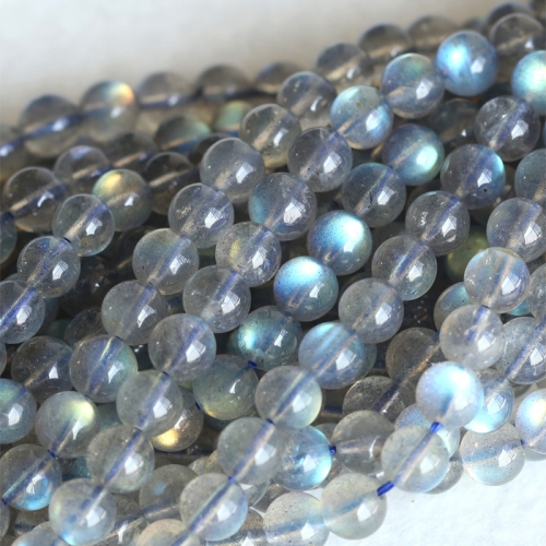 "High Quality AAA Wholesale Natural Genuine Flash Light Dark Blue Labradorite Round Loose Gems Beads 4mm 5mm 6mm 8mm 16"" 04129"