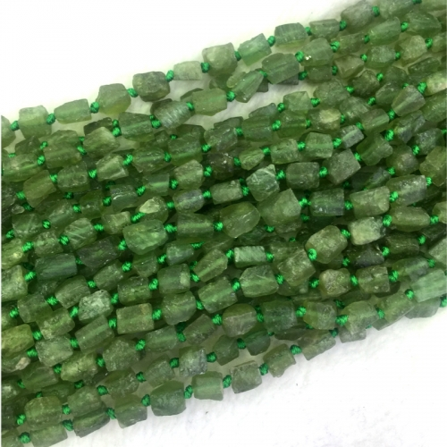 Wholesale Natural Genuine High Quality Green Apatite Fluorapatite Nugget Free Form Loose Rough Matte Faceted Beads  04301