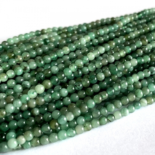 Genuine Natural Emerald Green  Semi-precious stones Round Necklaces Bracelets Beads 6mm 06392