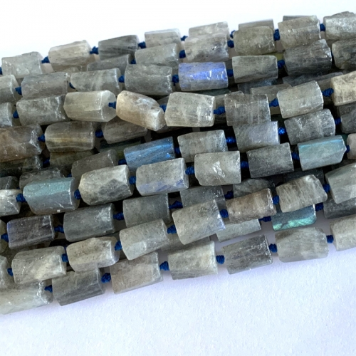 Natural Genuine Raw Mineral Gray Flash blue right Labradorite Nugget Free Form Loose Rough Matte Faceted Necklace Bracelet Jewelry Beads 06375