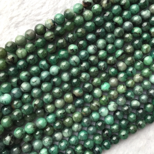 Genuine Natural Emerald Green  Semi-precious stones Round Necklaces Bracelets Beads 4mm 6mm 8mm 10mm 12mm 05866