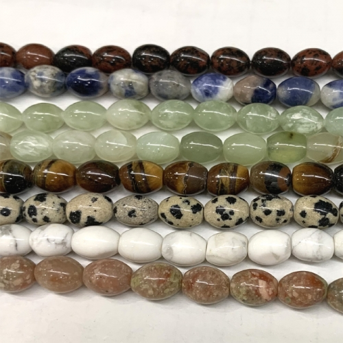 "16"" Natural Stones Jade Pink Autumn Jasper DALMATION Sodalite Red Obsidian Howlite Rice beads small Rice beads 6x8mm A006434"