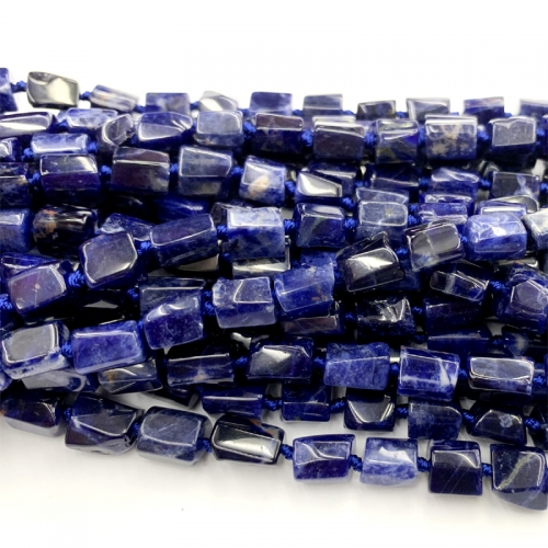 Natural Genuine Dark Blue Sodalite Nugget Free Form Loose Smooth Necklace Bracelet Jewelry Beads 06463