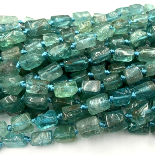 Natural Genuine green blue Fluorapatite Nugget Free Form Loose Smooth Necklace Bracelet Jewelry Necklaces Beads 06475