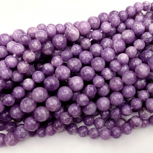 "15"" Natural Genuine Purple Lepidolite Lèpre Round Loose Gemstone Stone Jewelry Necklaces Bracelets Beads 4-12mm 06492"