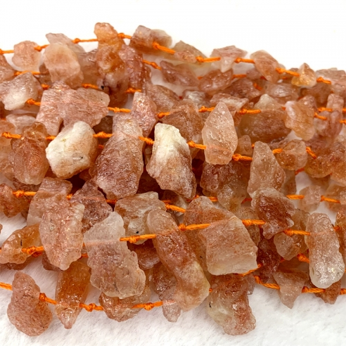 Natural Genuine Raw Mineral Gold Sanidine Sunstone Nugget Free Form Loose Rough Matte Faceted Necklace Bracelet Jewelry Beads 06495